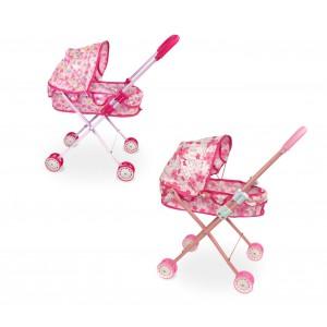 Passeggino giocattolo per bambole 160237 porta enfant con parasole cappottina