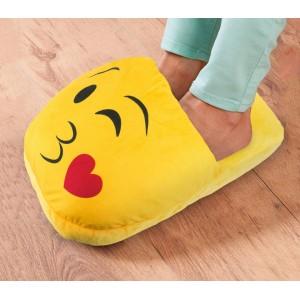 Ciabattona cuscino 395264 SCALDAPIEDI Emoticon pantofola peluche faccine