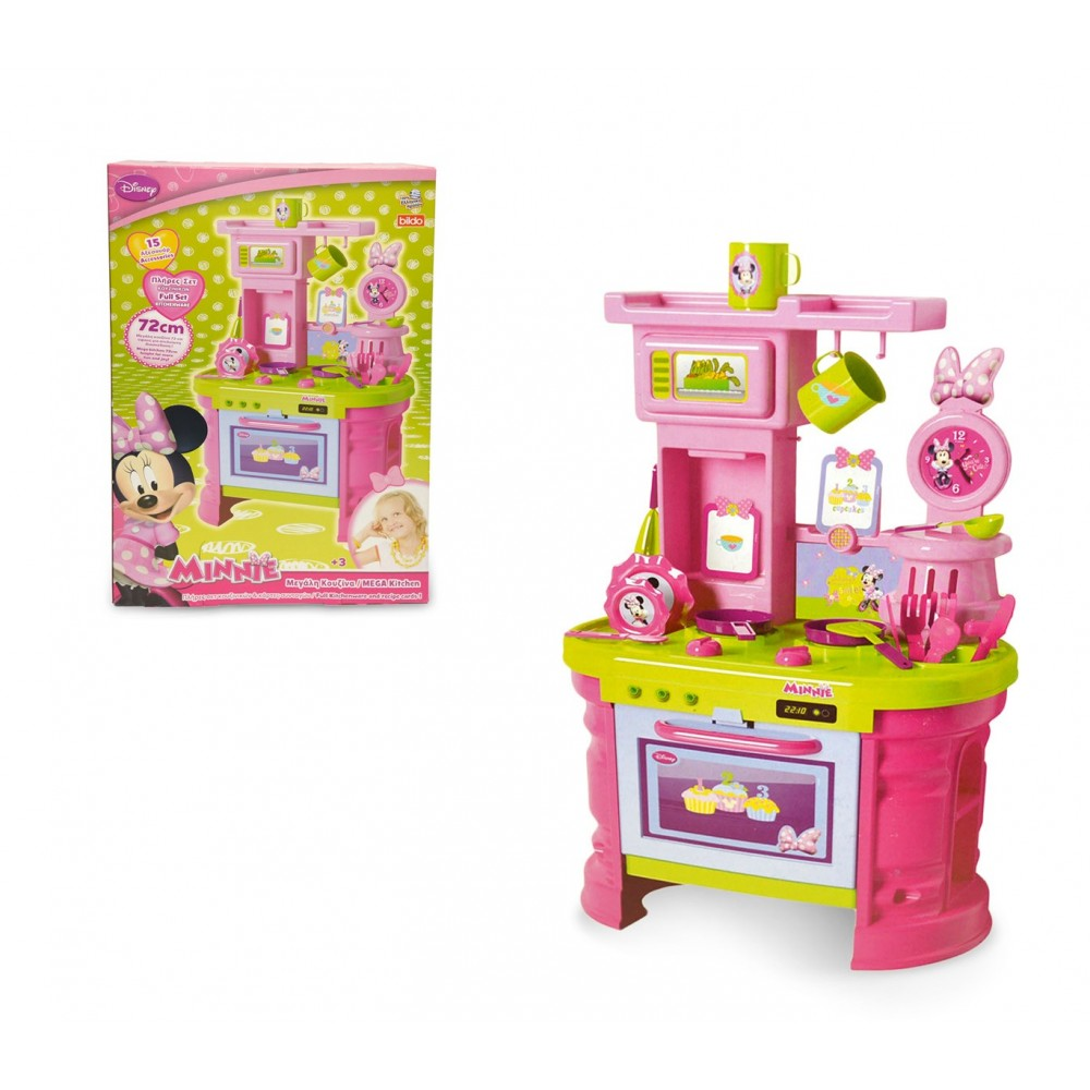 Mega cucina accessoriata di MINNIE 084014 con 15 fantastici accessori H 72 cm