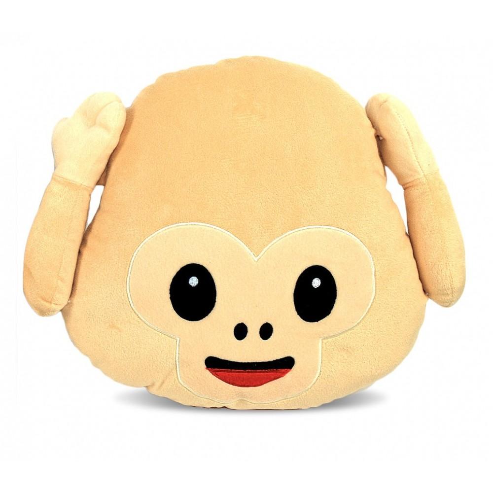 Cuscini emoticon scimmietta 347621 non vedo non sento non parlo 36 cm circa