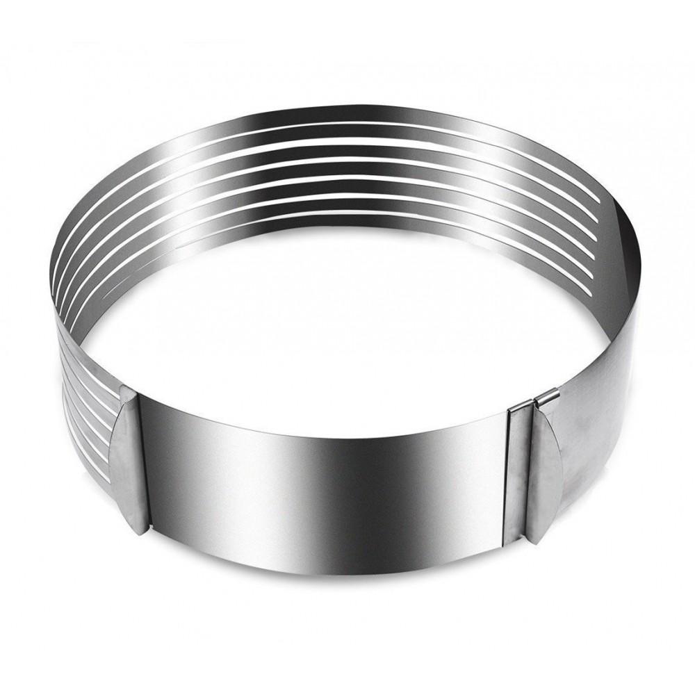Anello taglia torte 4361 in acciaio inox con 7 scanalature ø da 16 a 20 cm