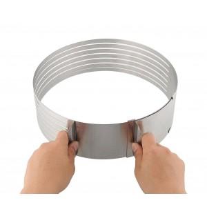 Stampo per torte 4361 anello regolabile da 16 a 20 cm in acciaio inox