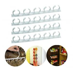 Set 4 strisce con clip 4369 porta spezie adesive su tutte le superfici