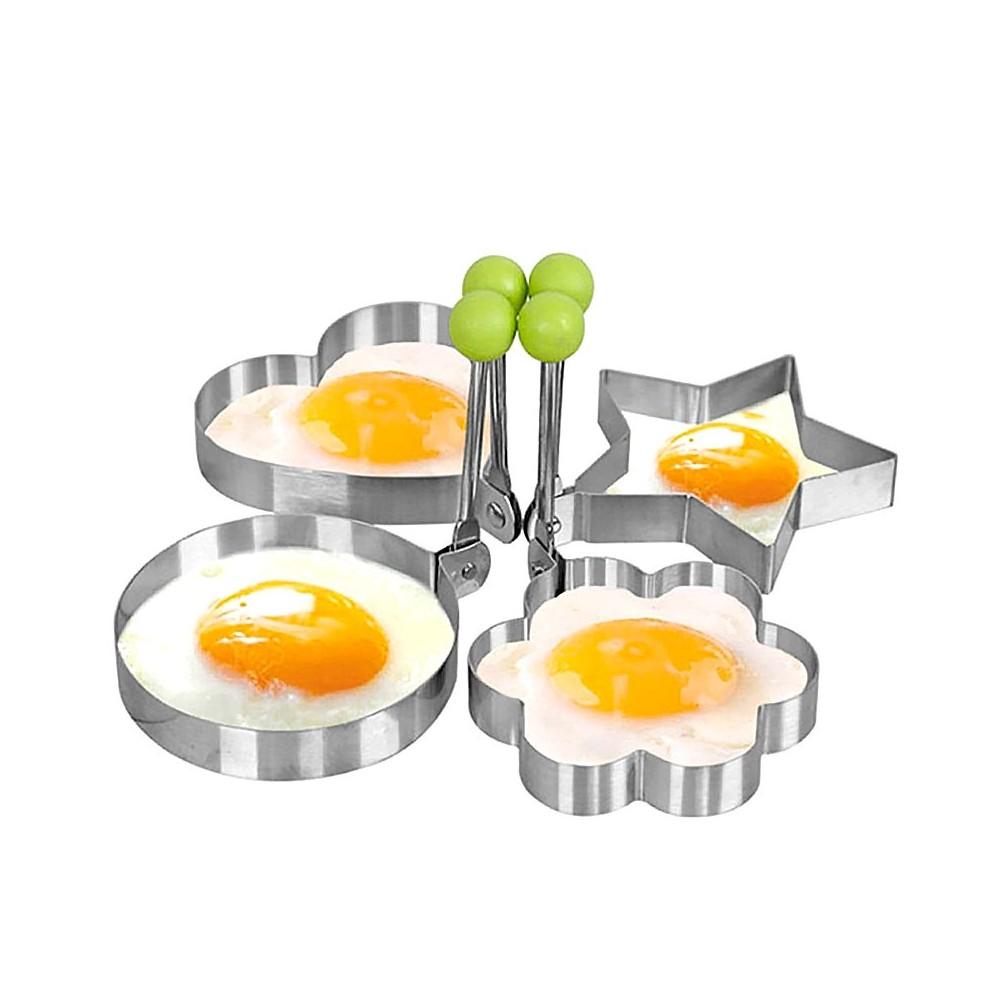 Formine cuoci uovo occhio di bue 4357 in acciaio inox 9 x 9 x 1,4 cm