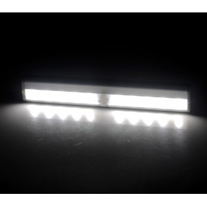 Luce automatica 4362 stick led con sensore di movimento a batterie 1,5 Watt