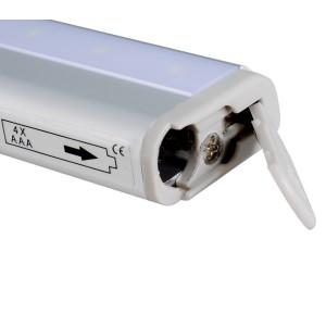 Luce automatica 4362 led con sensore di movimento senza fili funziona a batterie