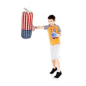 Set box AMERICA FIGHT 484005 per bambini sacco e guantoni