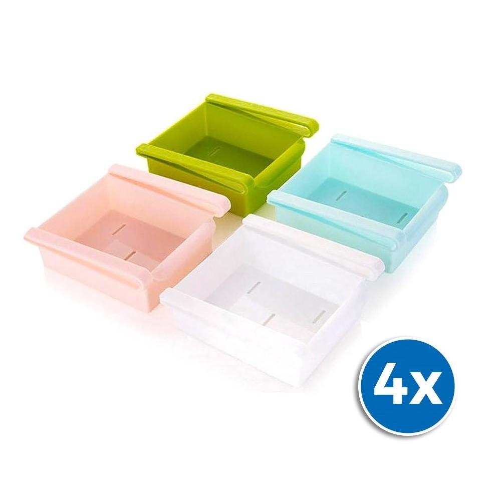 Set da 4 cassetti organizer per frigorifero 4705 colore a scelta 12x15x5,7 cm