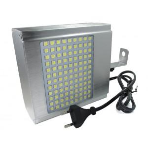 Image of Strobo led lampeggiante 108 led lampada luce bianca smd flash stroboscopica disco dj effetto disco 8002345792123