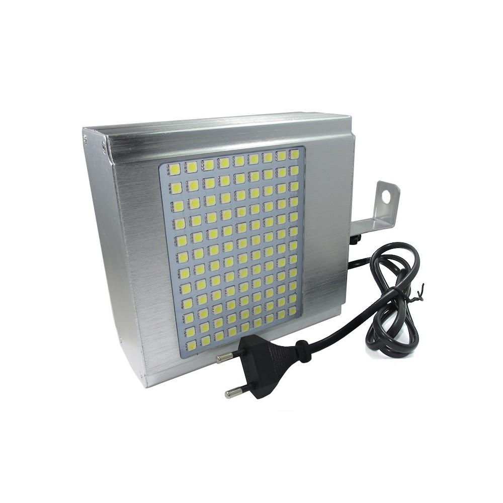 Strobo led lampeggiante 108 led lampada luce bianca smd flash stroboscopica disco dj effetto disco