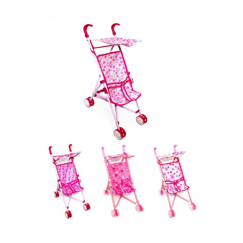 Passeggino giocattolo per bambole 160237 CIGIOKI richiudibile con parasole