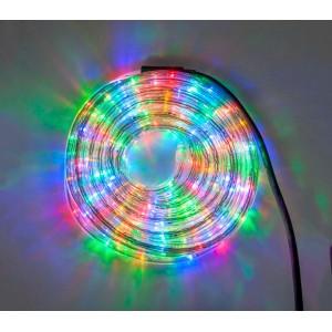 Tubo luce natalizio decoro multicolor 10 mt (interno e esterno)