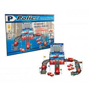 Playset garage della polizia CIGIOKI da assemblare