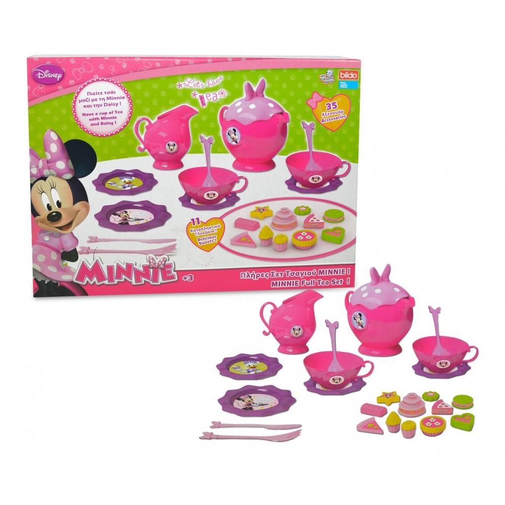 Servizio da tè completo di MINNIE 084229 con 35 accessori e dolcetti