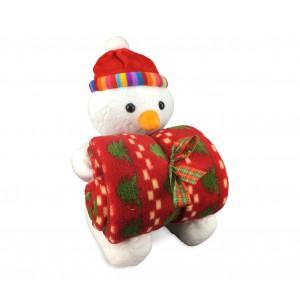 Set peluche e copertina 06581 in tema natalizio vari modelli idea regalo