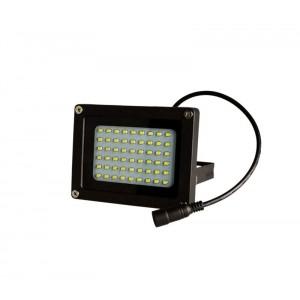 Faro led 10 W 370 lumen con pannello fotovoltaico da esterno luce fredda