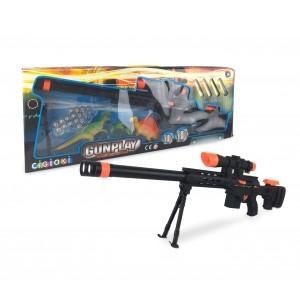 Fucile giocattolo GUN PLAY 395035 CIGIOKI con proiettili e bersagli inclusi