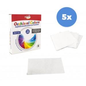 Pack da 5 confezioni 627326 fogli cattura colore 60 fogli 25x10 cm