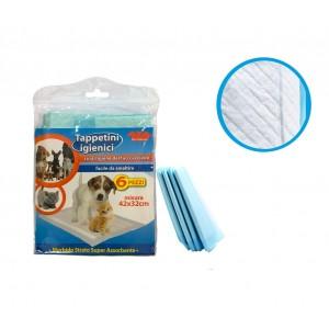 Tappetini igienici per cuccioli 627336 super assorbenti confezione da 6 pz