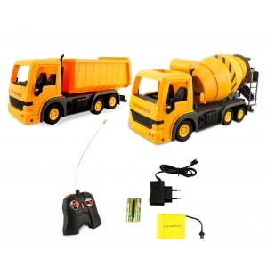 Camion e betoniera giocattolo 121476 radiocomando 6 funzioni e ruote in gomma