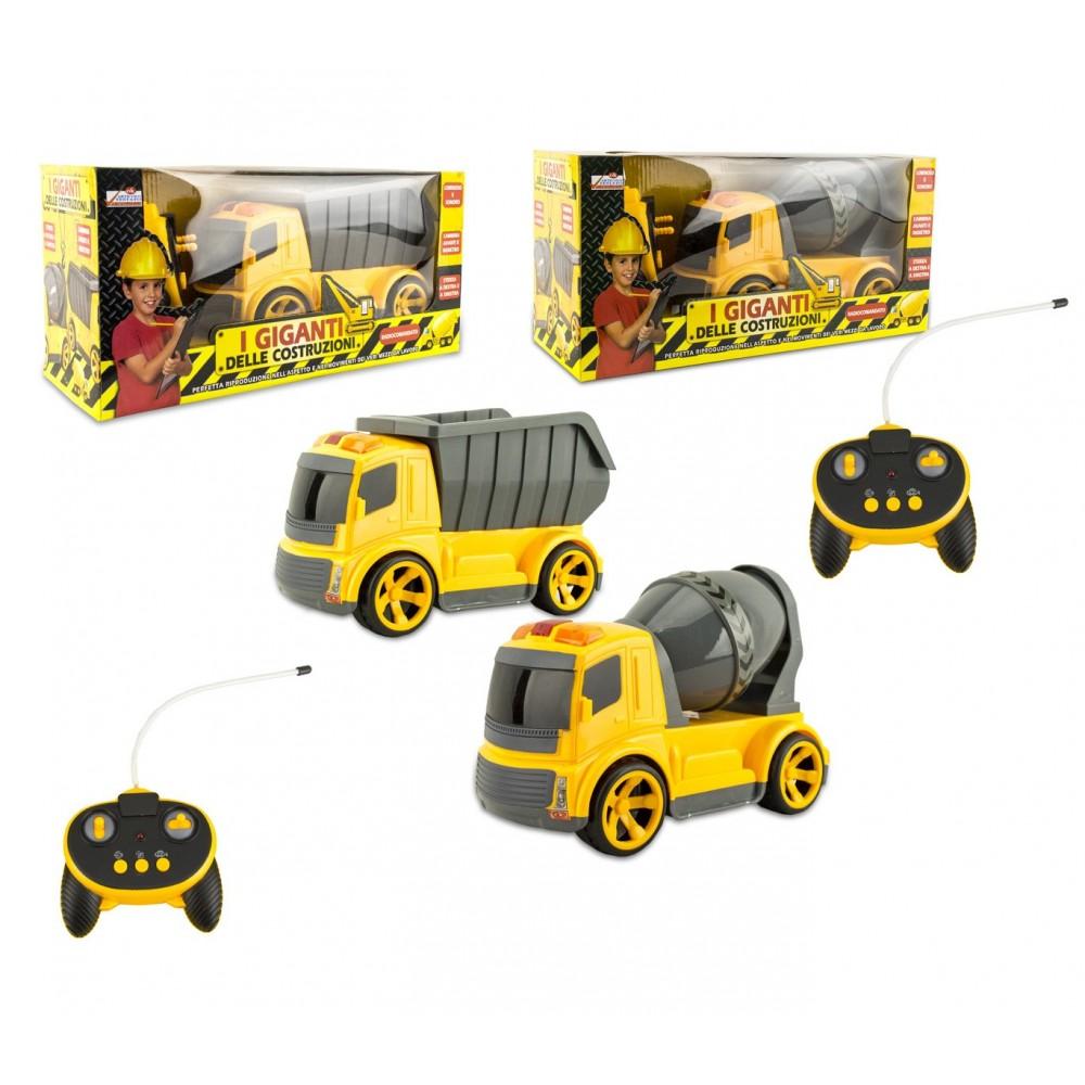 Camion o betoniera giocattolo 120455 radiocomandati con luci e suoni 6 funzioni