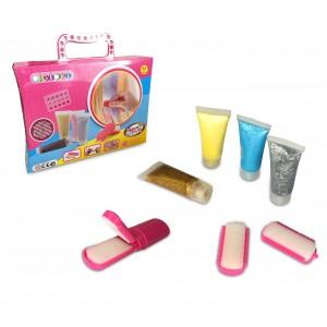 Kit glitter capelli CIGIOKI 341070 glitter gel colorato temporaneo per capelli