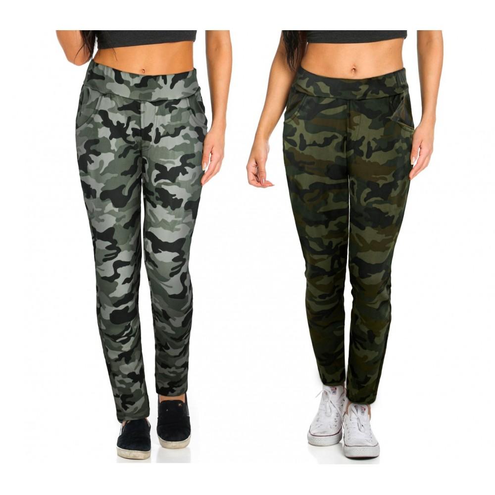 Pantaloni tuta da donna KZ-380 mod. GIPSY fantasia mimetica taglie da S ad XL