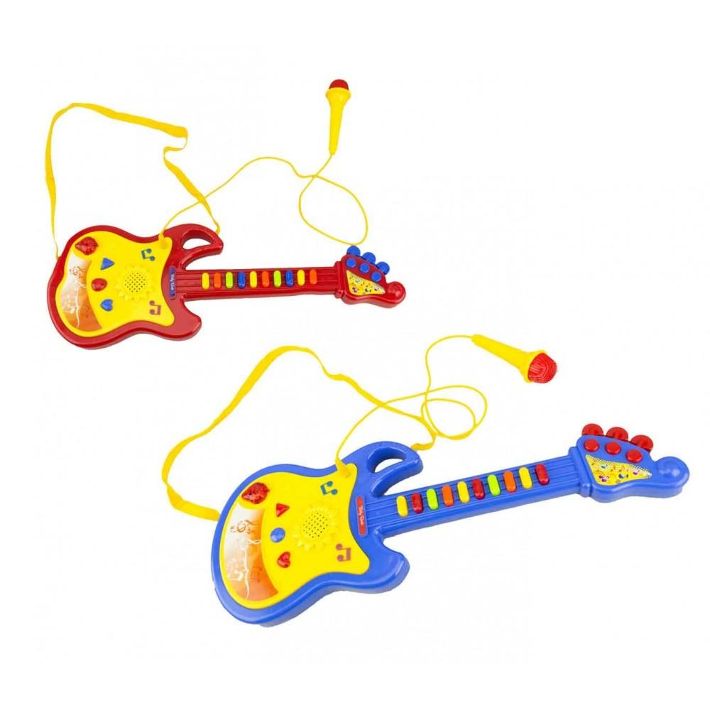 Chitarra giocattolo BABY ROCK 104008 con microfono funzionante con luci e suoni