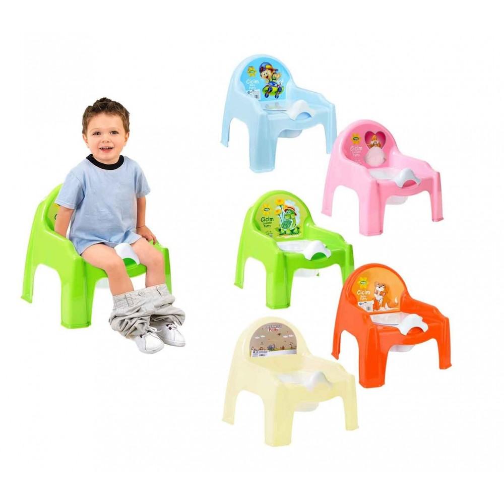 091103 Vasino per bambini sedia con vasino in plastica 4 colori baby potty