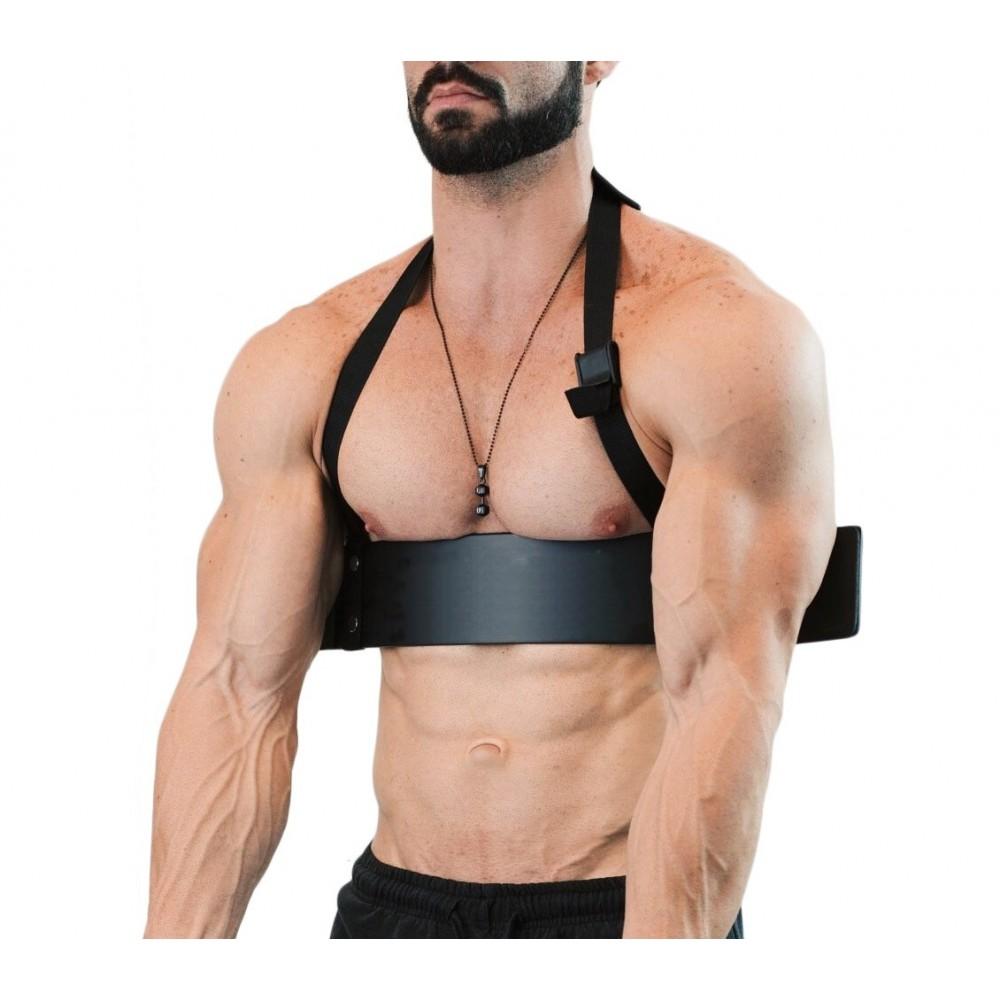 Biceps curl bar 4487 per esercizio isolato di bicipiti e tricipiti 60x9 cm