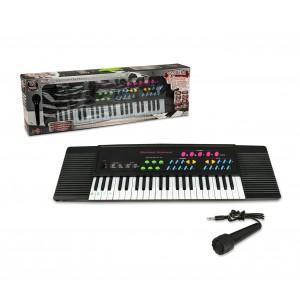 Tastiera elettronica giocattolo 100380 con microfono 44 tasti e basi ritmiche