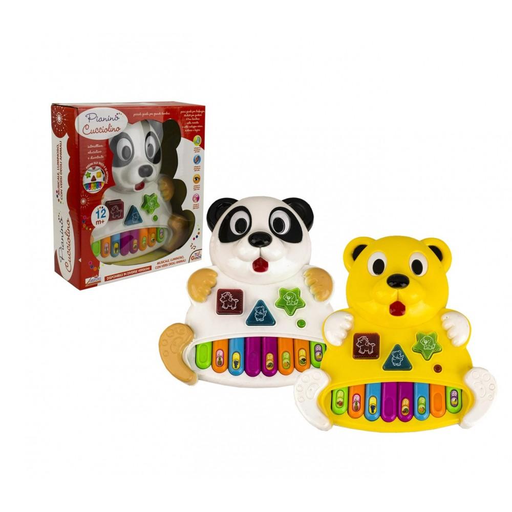 Gioco musicale per bambini 104407 PIANINO CUCCIOLINO gioca e impara luci e suoni