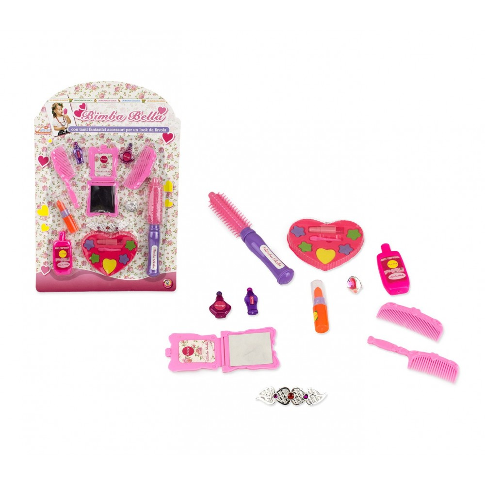 Set gioco bambina 104559 SALONE DI BELLEZZA BIMBA BELLA spazzole e make up