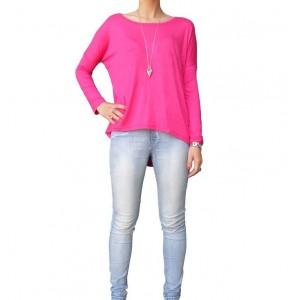 Image of Maglia donna mod. DESDEA manica lunga taglia unica t-shirt girocollo 8019876540871