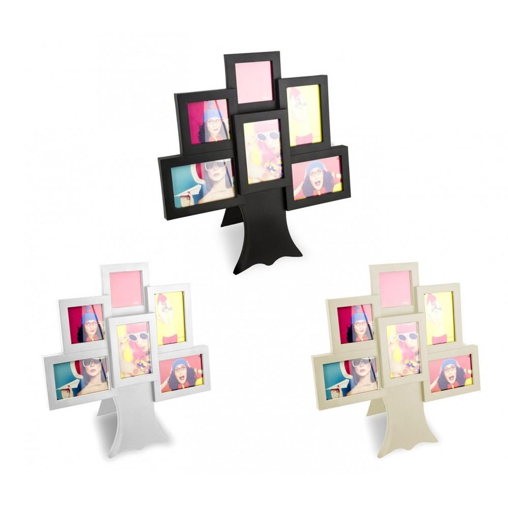 Portafoto cornice 880730 forma ALBERO 36 x 40 con cornici diverse misure
