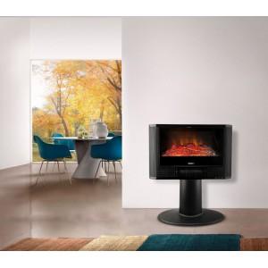 Image of Stufa Camino a muro elettrico 585906 DICTROLUX effetto fiamma 900-1800 Watt 8435524500439