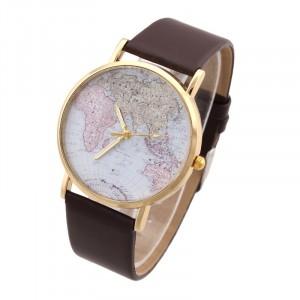 Image of Orologio vintage analogico con mappamondo al quarzo watch retrò 8023409125671