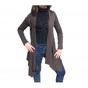Image of Cardigan donna manica lunga tessuto leggero ottima vestibilità 8057847810653