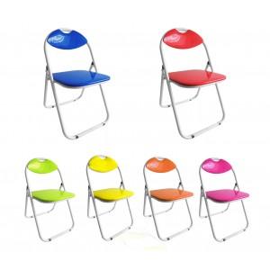 Set 4 sedie pieghevoli VESTIAMO CASA schienale e seduta imbottitita lucida