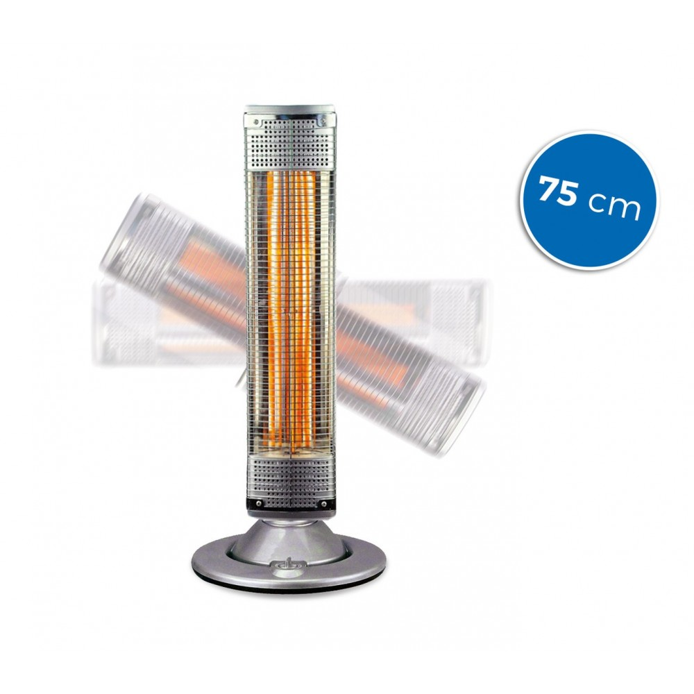Stufa al carbonio 75 cm girevole a 180° DICTROLUX 586118 risparmio energia 900W