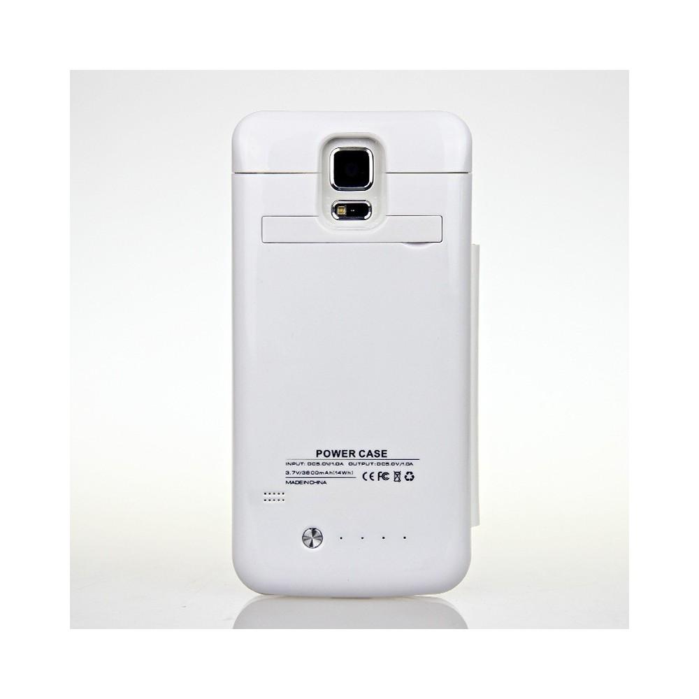 Custodia cover carica batteria Samsung Galaxy S5 3800 mha
