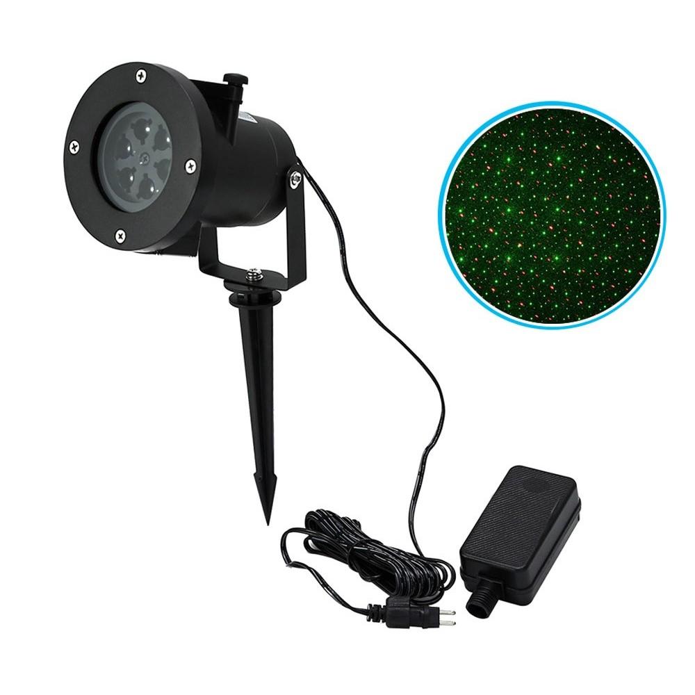 Proiettore luci led laser 560897 PUNTINI ROSSI E VERDI da esterno IP65 6W