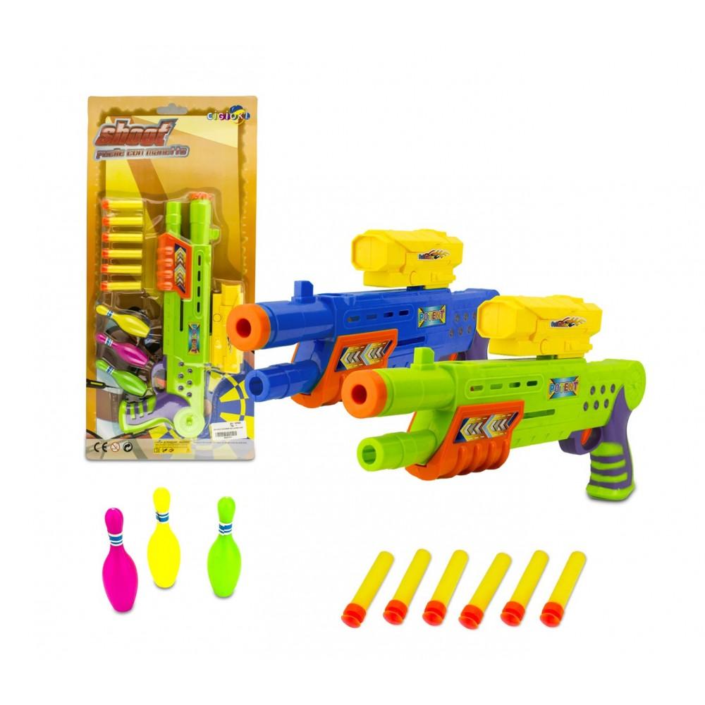 Fucile giocattolo SHOOT PLAY 168837 CIGIOKI con dardi morbidi e bersagli inclusi