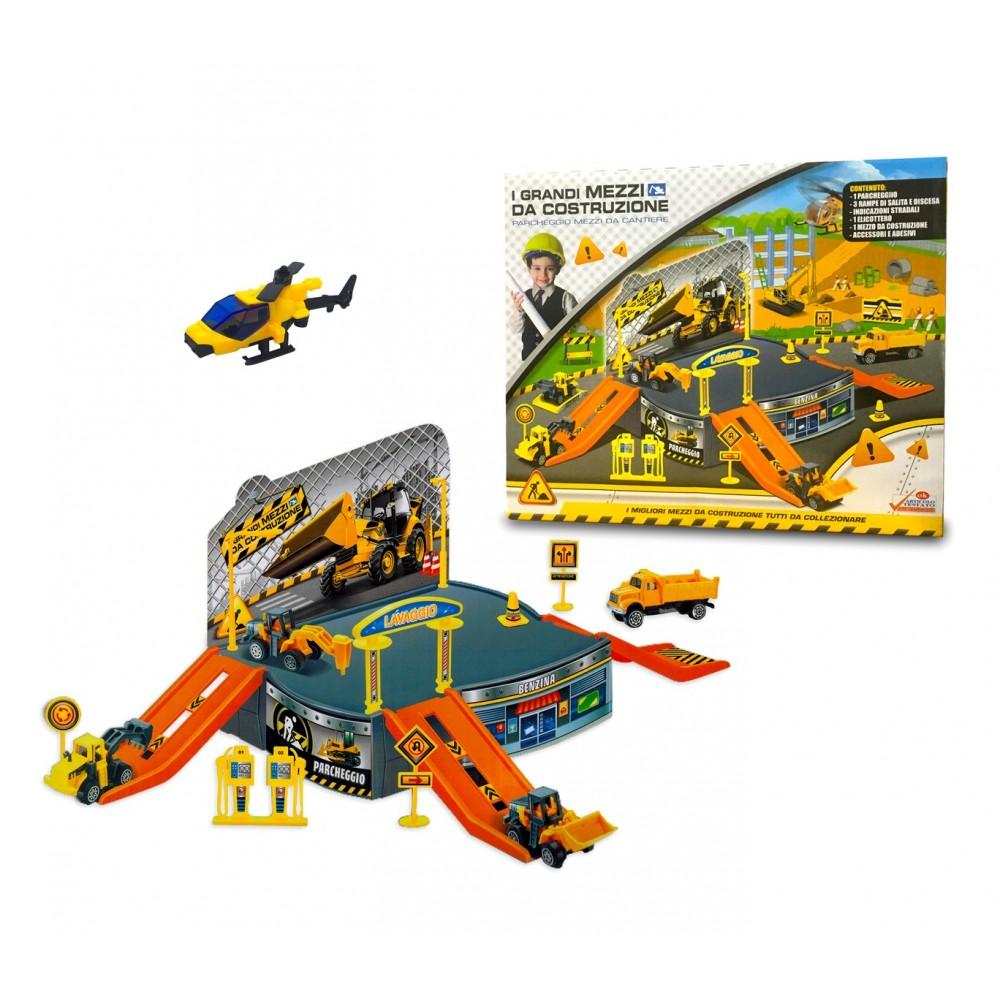 Playset gioco CANTIERE IN COSTRUZIONE 121837 con elicottero e automezzi