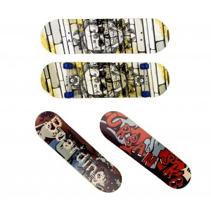 Skateboard per ragazzi 4 ruote 122648 in legno 79 cm diversi modelli