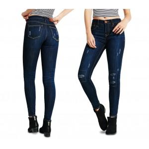 Jeans da donna a vita alta 81113 mod. ANNALAURA slim fit taglie dalla XS alla L