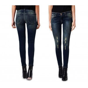 Jeans da donna a vita alta 81128 mod. KENDRA slim fit taglie dalla XS alla L