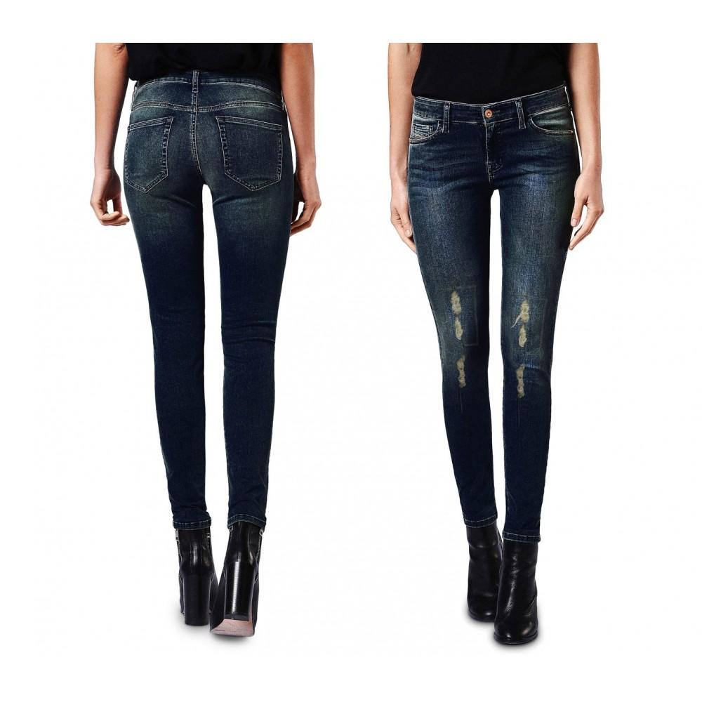 Jeans da donna a vita alta 81128 mod. KENDRA slim fit taglie dalla XS alla XL