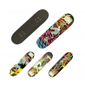 Skateboard per ragazzi 514091 COSTWAY truck in alluminio 79x20 cm ruote 50mm