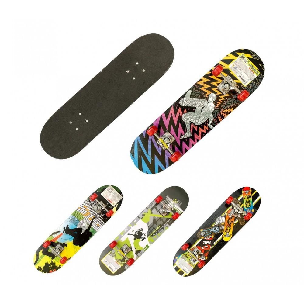 Skateboard sportivo 514091 STREET JUMPER truck alluminio 78 x 20 cm ruote 50mm